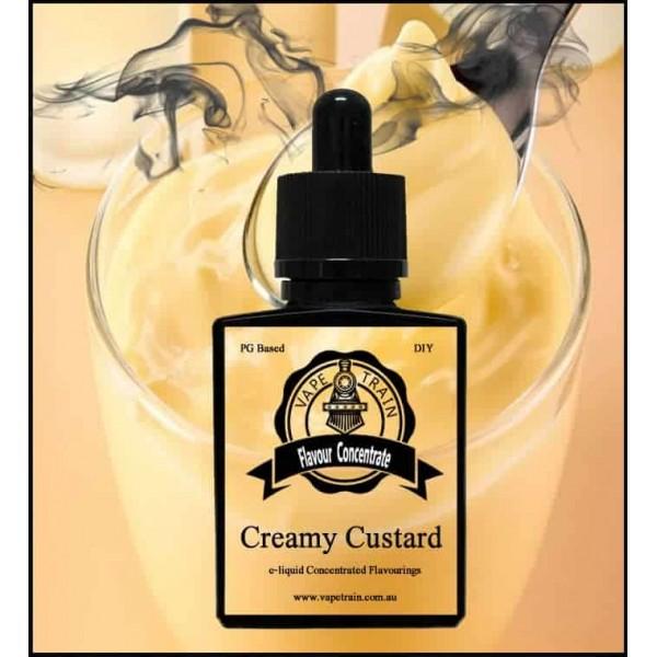 Vape Train Creamy Custard 10ml Flavor (Rebottled)
